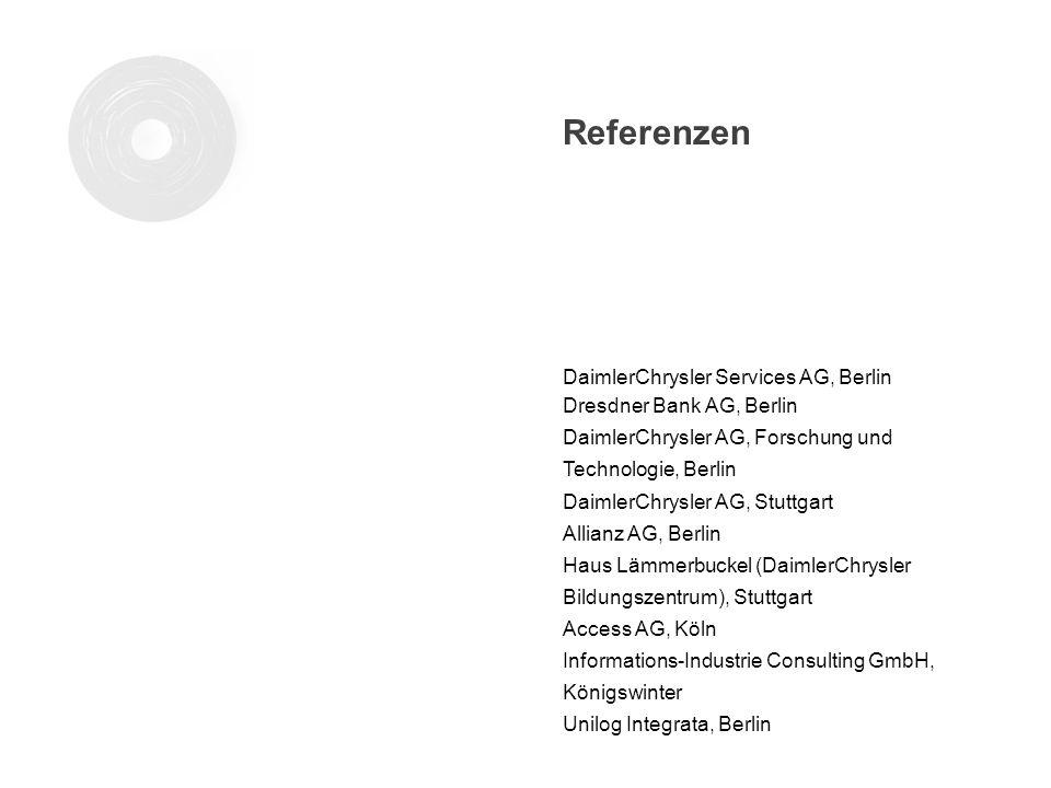 DaimlerChrysler Services AG, Berlin Dresdner Bank AG, Berlin DaimlerChrysler AG, Forschung und Technologie, Berlin DaimlerChrysler AG, Stuttgart Allia