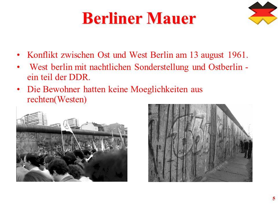 5 Berliner Mauer Konflikt zwischen Ost und West Berlin am 13 august 1961.