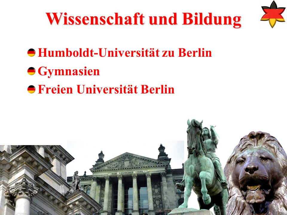 8 Wissenschaft und Bildung Humboldt-Universität zu Berlin Gymnasien Freien Universität Berlin