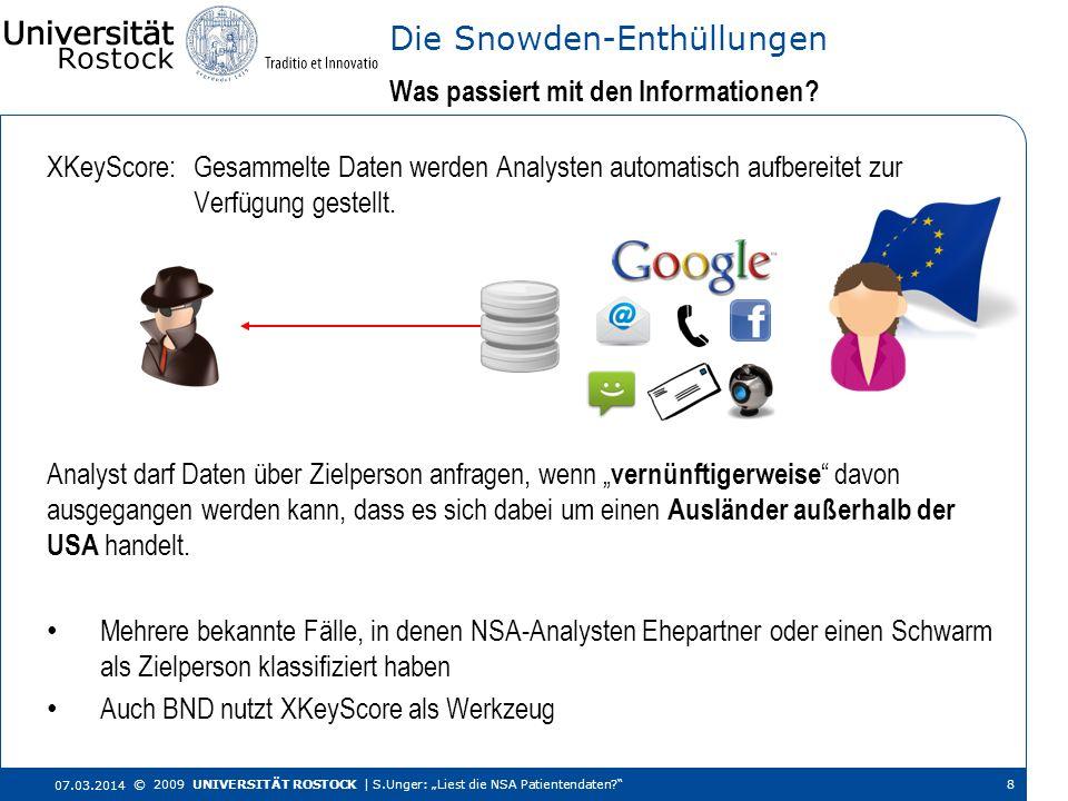 XKeyScore: Gesammelte Daten werden Analysten automatisch aufbereitet zur Verfügung gestellt. Was passiert mit den Informationen? Die Snowden-Enthüllun