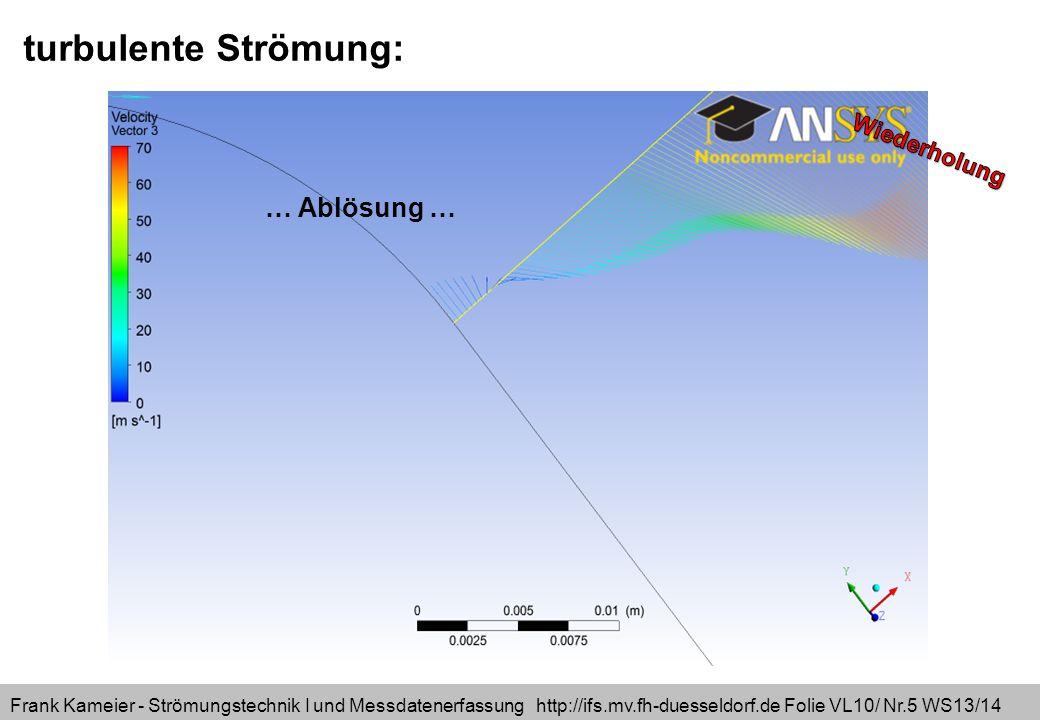 Frank Kameier - Strömungstechnik I und Messdatenerfassung http://ifs.mv.fh-duesseldorf.de Folie VL10/ Nr.16 WS13/14 für i=1 für i=2 für i=3