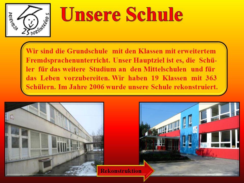 Wir sind die Grundschule mit den Klassen mit erweitertem Fremdsprachenunterricht.
