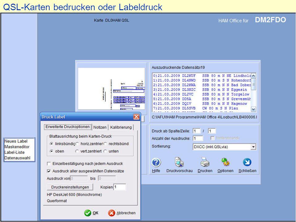 QSL-Karten bedrucken oder Labeldruck