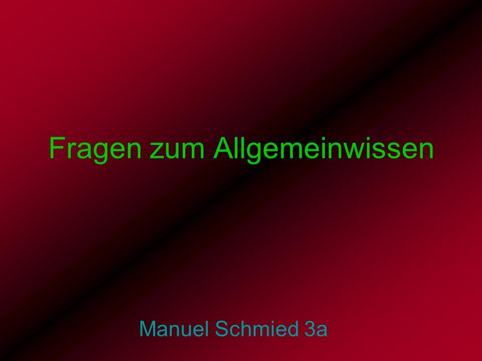 Fragen zum Allgemeinwissen Manuel Schmied 3a