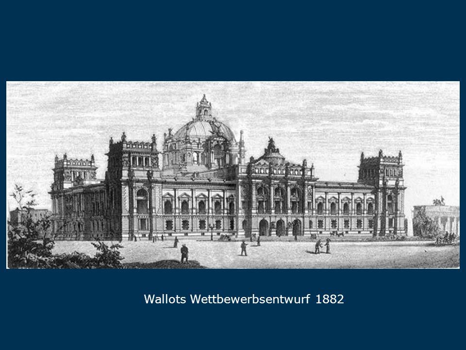 Wallots Wettbewerbsentwurf 1882 Wallot
