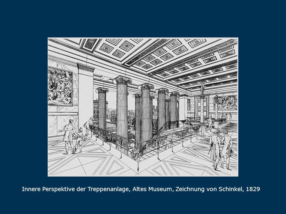 Innere Perspektive der Treppenanlage, Altes Museum, Zeichnung von Schinkel, 1829 Treppenanlage