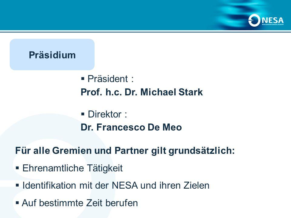 Präsident : Prof.h.c. Dr. Michael Stark Direktor : Dr.