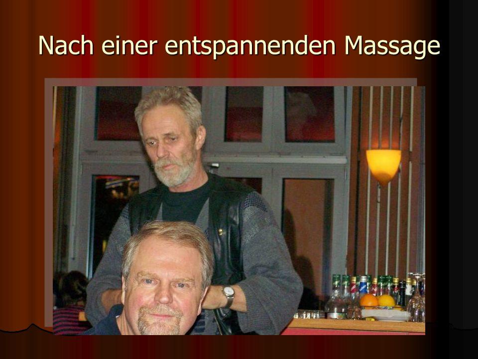 Nach einer entspannenden Massage