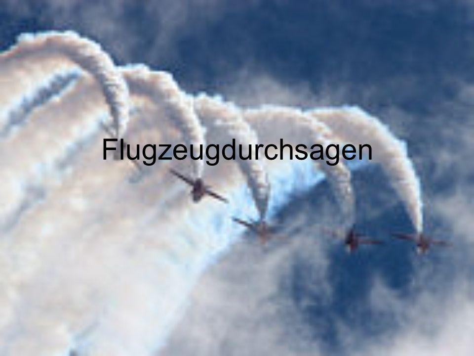 Flugzeugdurchsagen