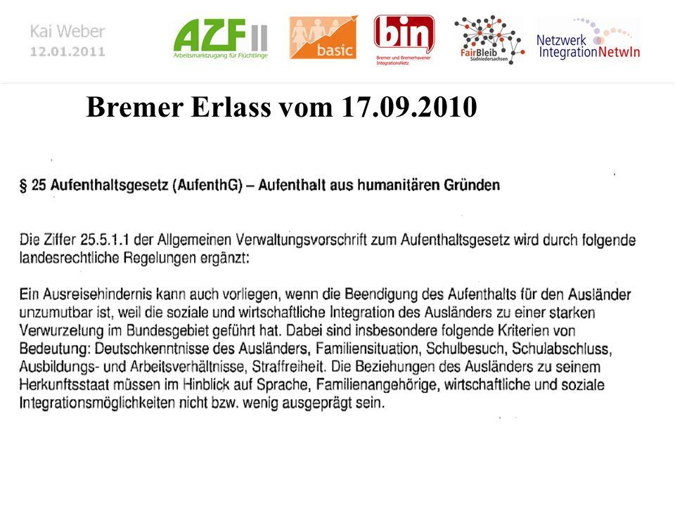 Bremer Erlass vom 17.09.2010