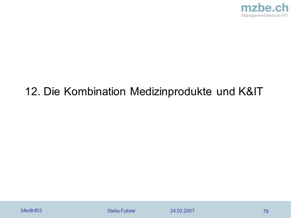 Stelia Fuhrer 24.03.2007 MedInf03 79 12. Die Kombination Medizinprodukte und K&IT