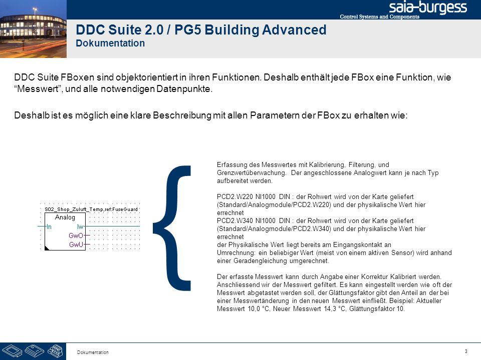 3 Dokumentation DDC Suite 2.0 / PG5 Building Advanced Dokumentation DDC Suite FBoxen sind objektorientiert in ihren Funktionen. Deshalb enthält jede F