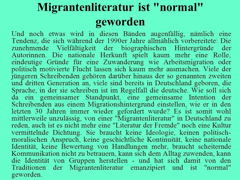 Migrantenliteratur ist