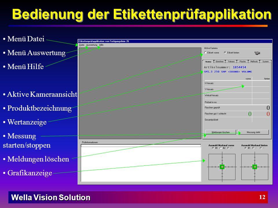 Wella Vision Solution 11 Die Bilderkennungshardware (Checkpoint CP900 Vision-Board) 5V-TTL-Pegel auf 24V-Pegel der SPS Aufbau des Bilderkennungssystem