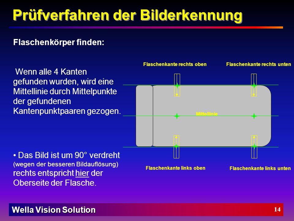 Wella Vision Solution 13 Prüfverfahren der Bilderkennung
