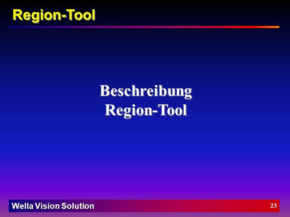 Wella Vision Solution 22 Kanten-Tool Beispiel: Suche nach Kantenpaaren nach Stärke und Position der Kanten über die Länge des Fensters. Graubereich Pl