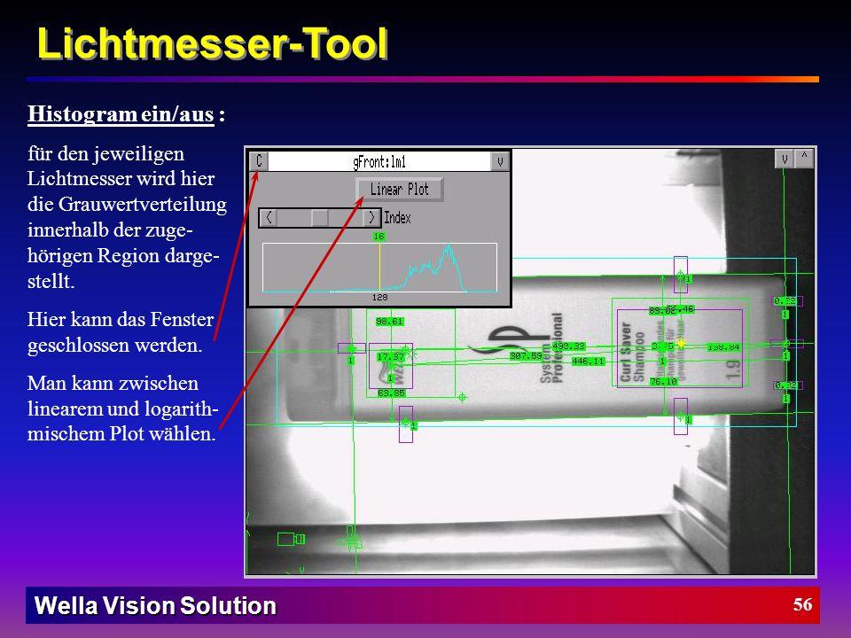 Wella Vision Solution 55 Lichtmesser-Tool Die Lichtmesser-Tool Parameter: Mittelwert Mittelwert Toleranz +/- Standartabweichung Standart Toleranz +/-
