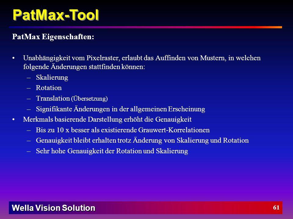 Wella Vision Solution 60 Merkmalsextraktion- Randpunkte Ein Merkmal wird beschrieben durch eine Liste zusammen- hängender Randpunkte. Ein Randpunkt is