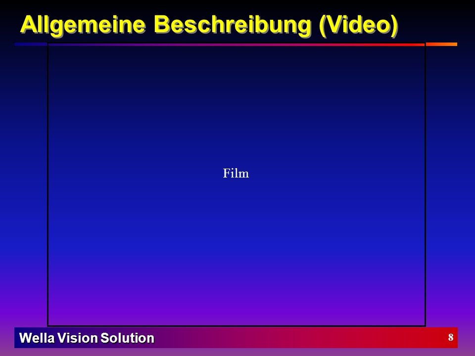 Wella Vision Solution 7 ein gutes Konzept bildet die Grundlage