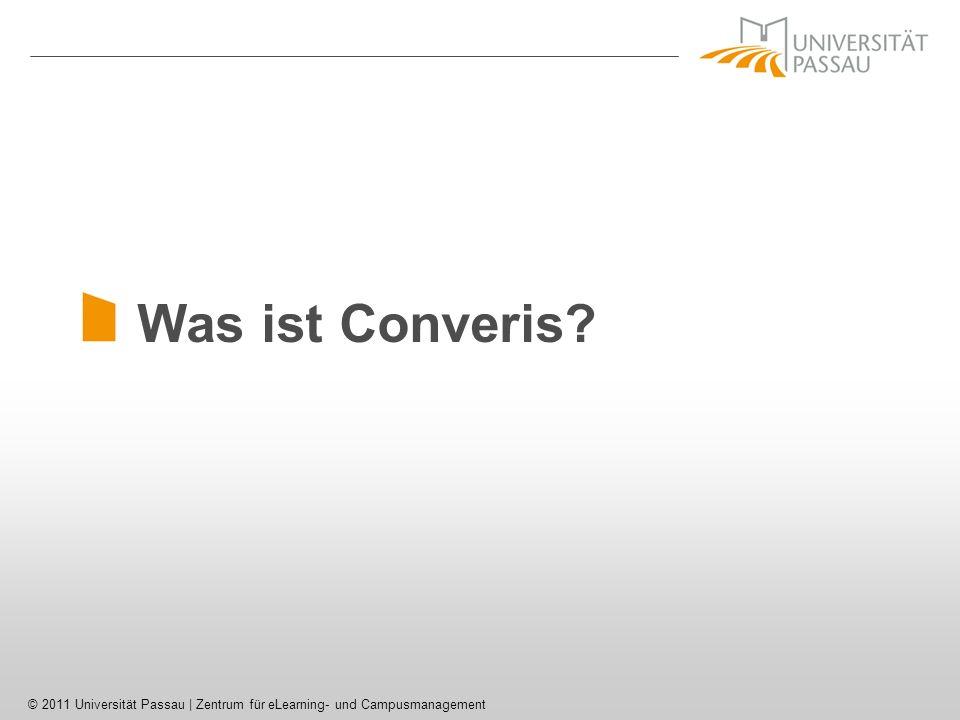 © 2011 Universität Passau | Zentrum für eLearning- und Campusmanagement Converis – Projektdaten (5)