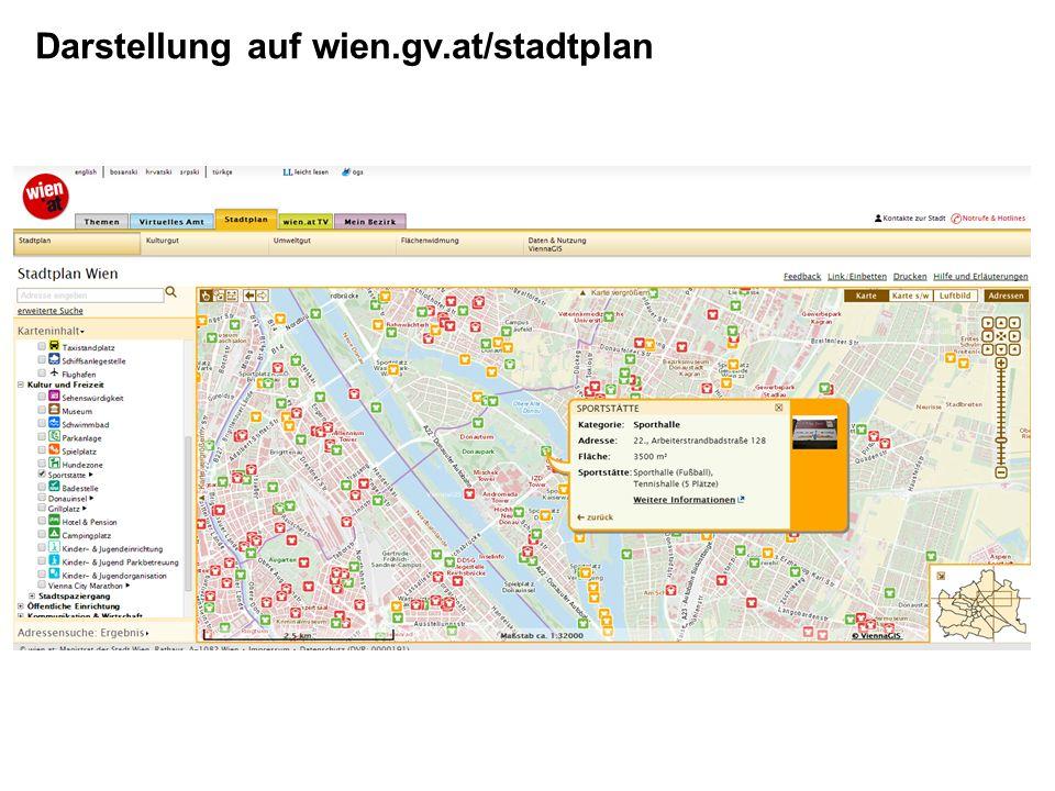 Darstellung auf wien.gv.at/stadtplan