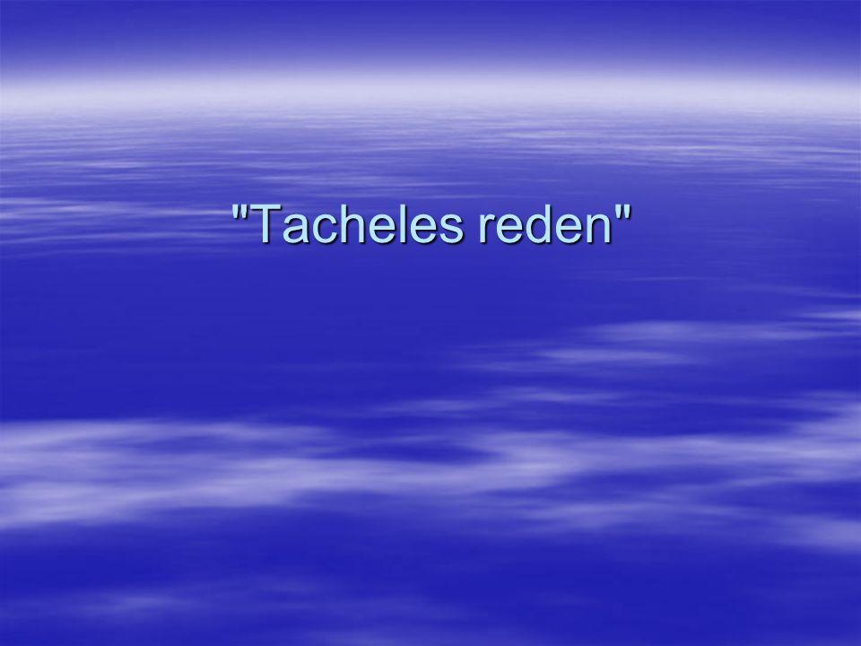 Tacheles reden