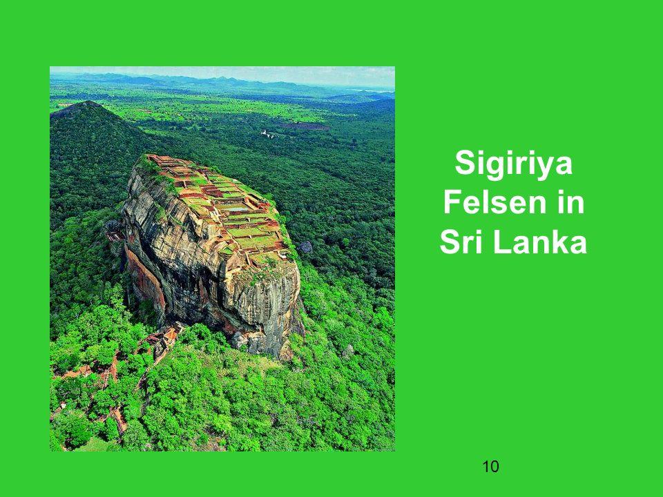 10 Sigiriya Felsen in Sri Lanka