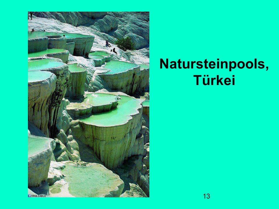 13 Natursteinpools, Türkei