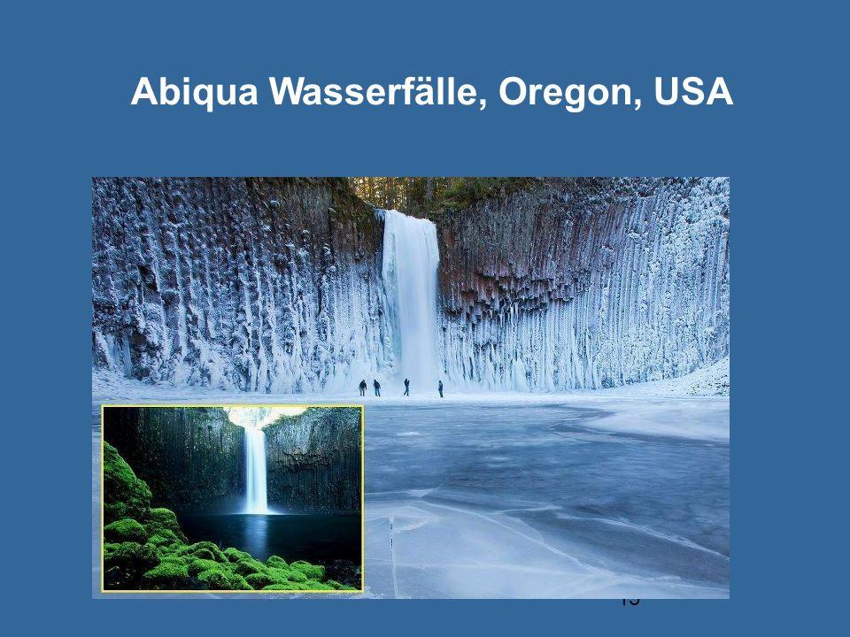 15 Abiqua Wasserfälle, Oregon, USA