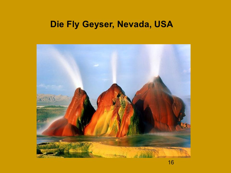 16 Die Fly Geyser, Nevada, USA