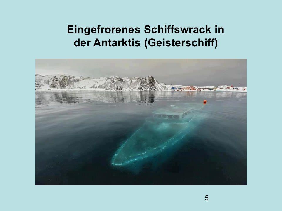 5 Eingefrorenes Schiffswrack in der Antarktis (Geisterschiff)