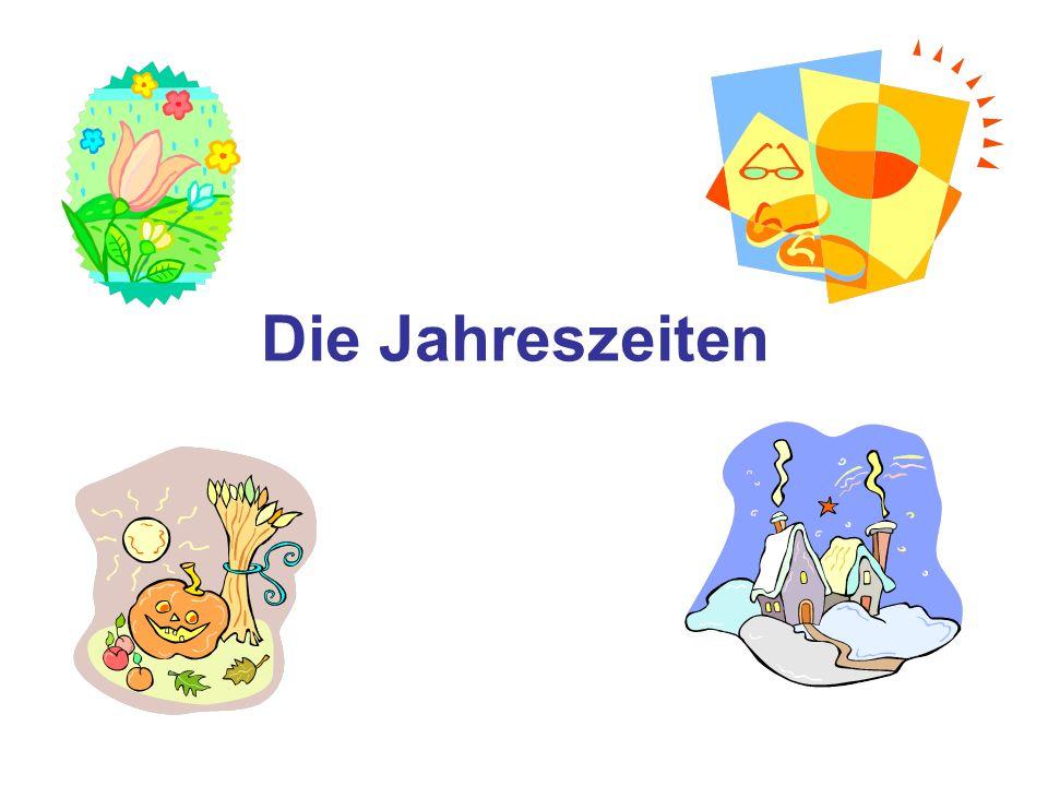 Die 4 Jahreszeiten Frühling Sommer Herbst Winter Spring Summer Autumn Winter