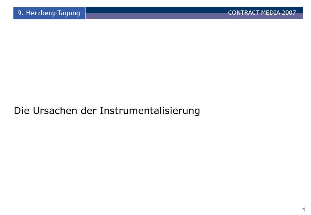CONTRACT MEDIA 2007 15 9. Herzberg-Tagung Schlussbemerkungen