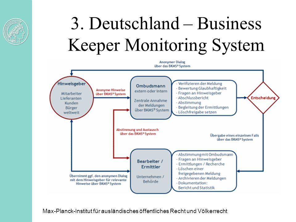 3. Deutschland – Business Keeper Monitoring System Max-Planck-Institut für ausländisches öffentliches Recht und Völkerrecht