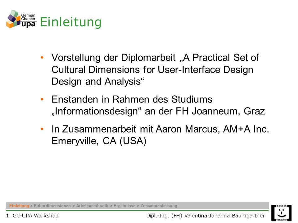1.GC-UPA Workshop Dipl.-Ing.