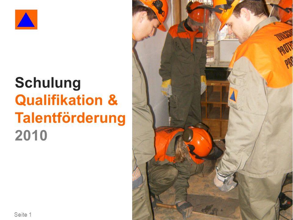Seite 1 Qualifikation/ Talentförderung Schulung Qualifikation & Talentförderung 2010