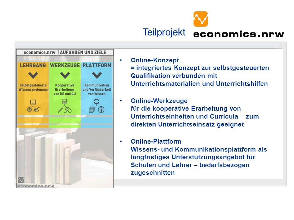 Online-Konzept = integriertes Konzept zur selbstgesteuerten Qualifikation verbunden mit Unterrichtsmaterialien und Unterrichtshilfen Online-Werkzeuge