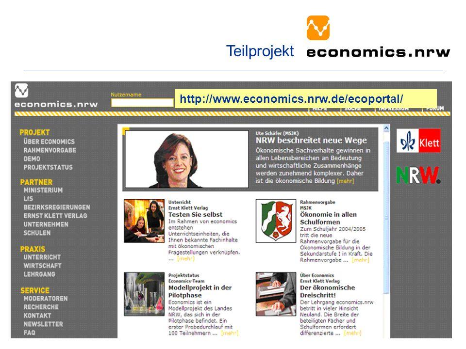 http://www.economics.nrw.de/ecoportal/ Teilprojekt