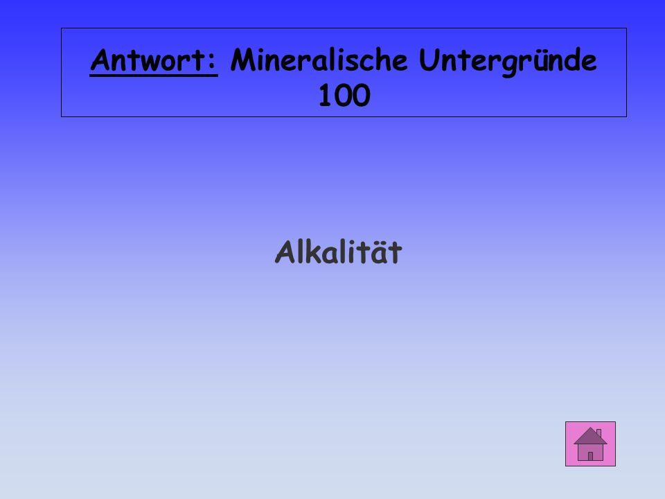 Mineralische Untergründe 100 Durch welche Eigenschaft des Betons werden Stahleinlagen vor Korrosion geschützt?