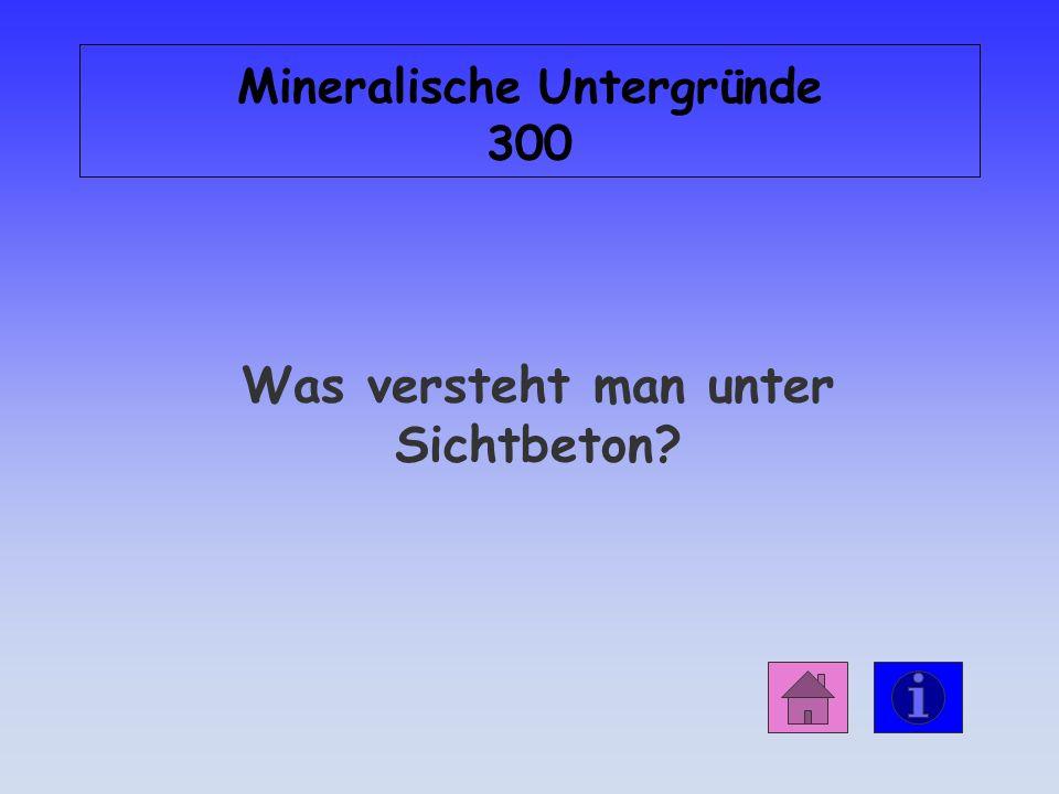 Antwort: Mineralische Untergründe 200 Zement
