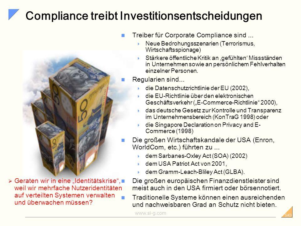 SiG www.si-g.com Sicherheit als Teil der Markenstrategie Sicherheit spielt im Finanzsektor eine wachsende Rolle.