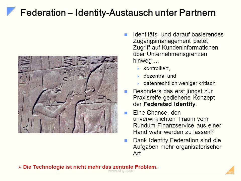 SiG www.si-g.com Allfinanz – noch in der Probezeit Das deutsche Finanzwesen ist horizontal eng verflochten.