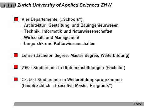 ZHW Winterthur – (Bern) – Lausanne Winterthur Bern Lausanne Le Roestigraben Greater Zurich Area 1 Mio.
