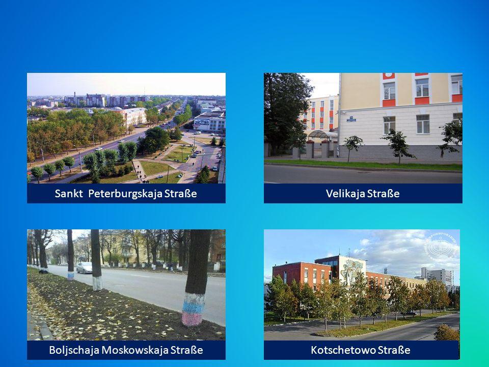 Sankt Peterburgskaja StraßeVelikaja Straße Boljschaja Moskowskaja StraßeKotschetowo Straße