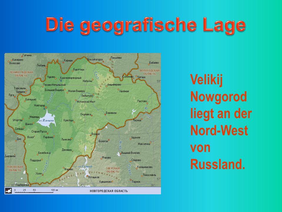 Velikij Nowgorod liegt an der Nord-West von Russland.