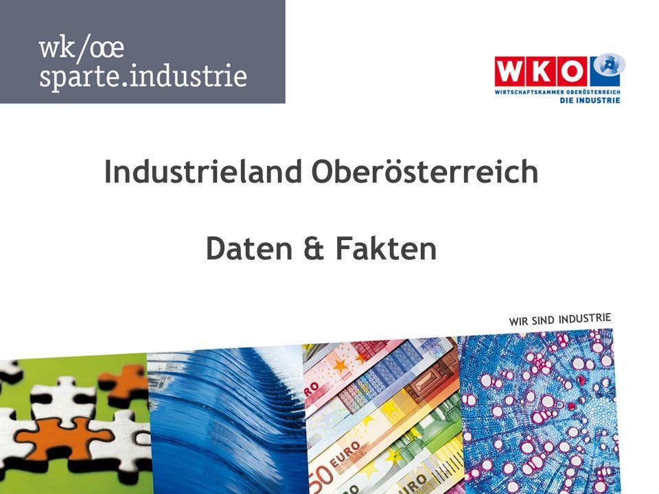 Daten & Fakten  Mai 2014 WIR SIND INDUSTRIE 2 Günter Rübig Obmann Heinz Moosbauer Geschäftsführer Industrieland Oberösterreich Oberösterreich ist das Industriebundesland Nr.