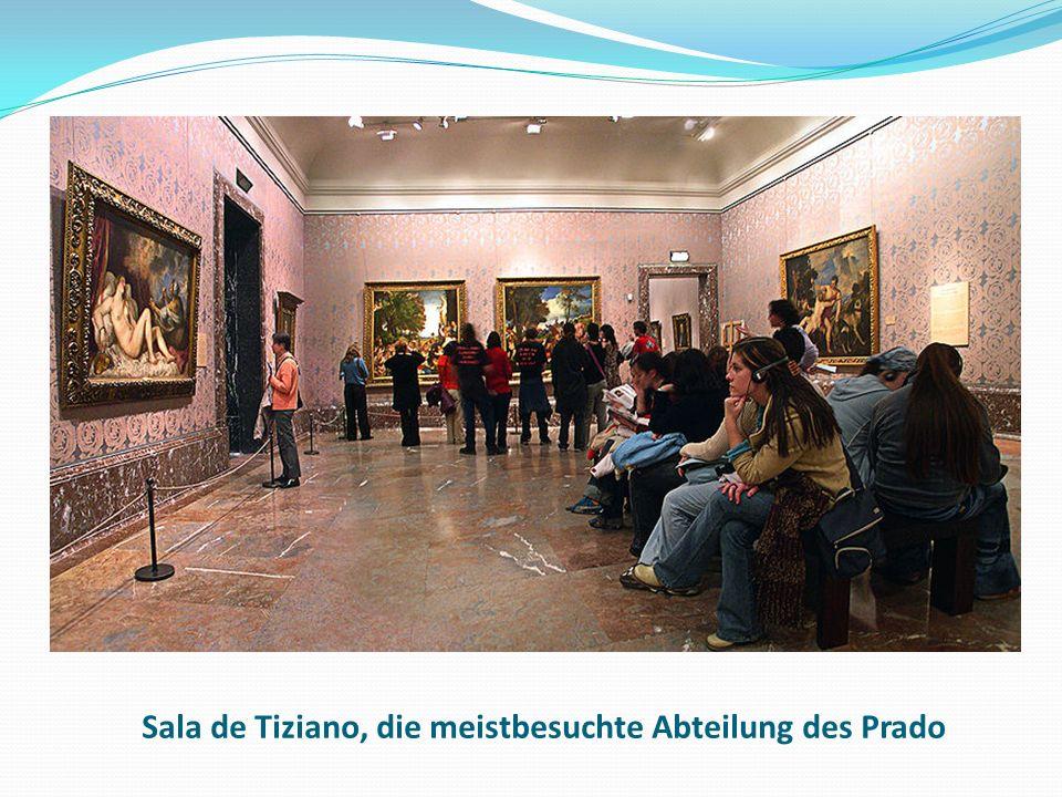 Sala de Tiziano, die meistbesuchte Abteilung des Prado
