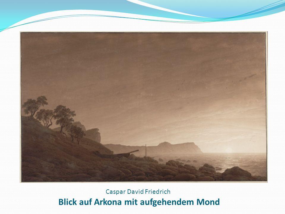 Caspar David Friedrich Blick auf Arkona mit aufgehendem Mond