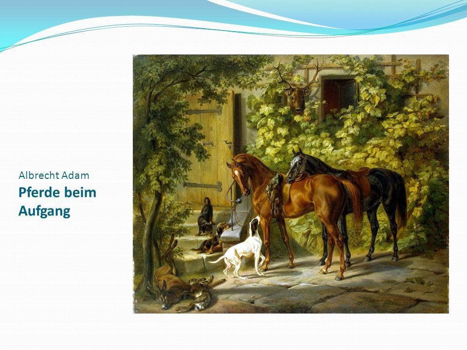 Albrecht Adam Pferde beim Aufgang