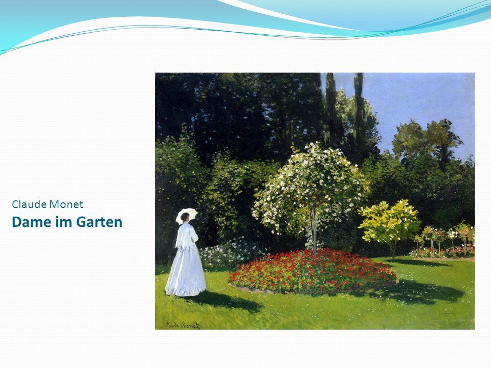 Claude Monet Dame im Garten
